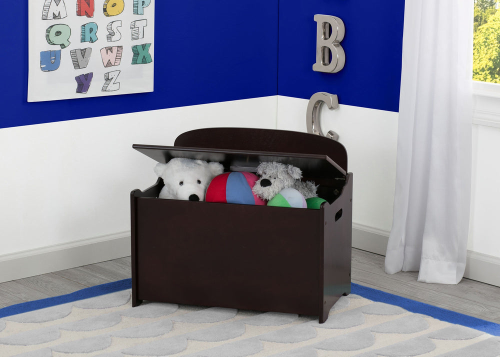 Delta Children Dark Chocolate (207) MySize Deluxe Toy Box, Room, c0c