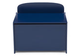 Delta Children Deep Blue (295C) MySize Deluxe Toy Box, Front Silo View