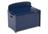 Delta Children Deep Blue (295C) MySize Deluxe Toy Box, Right Silo View