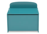 Delta Children Teal (7474C) MySize Deluxe Toy Box, Front Silo View