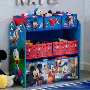 Delta Children Mickey Mouse Multi-Bin Toy Organizer, Hangtag View