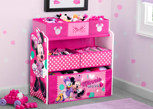 Delta Children Style 1 Minnie Mouse Multi-Bin Toy Organizer Hangtag View a2a