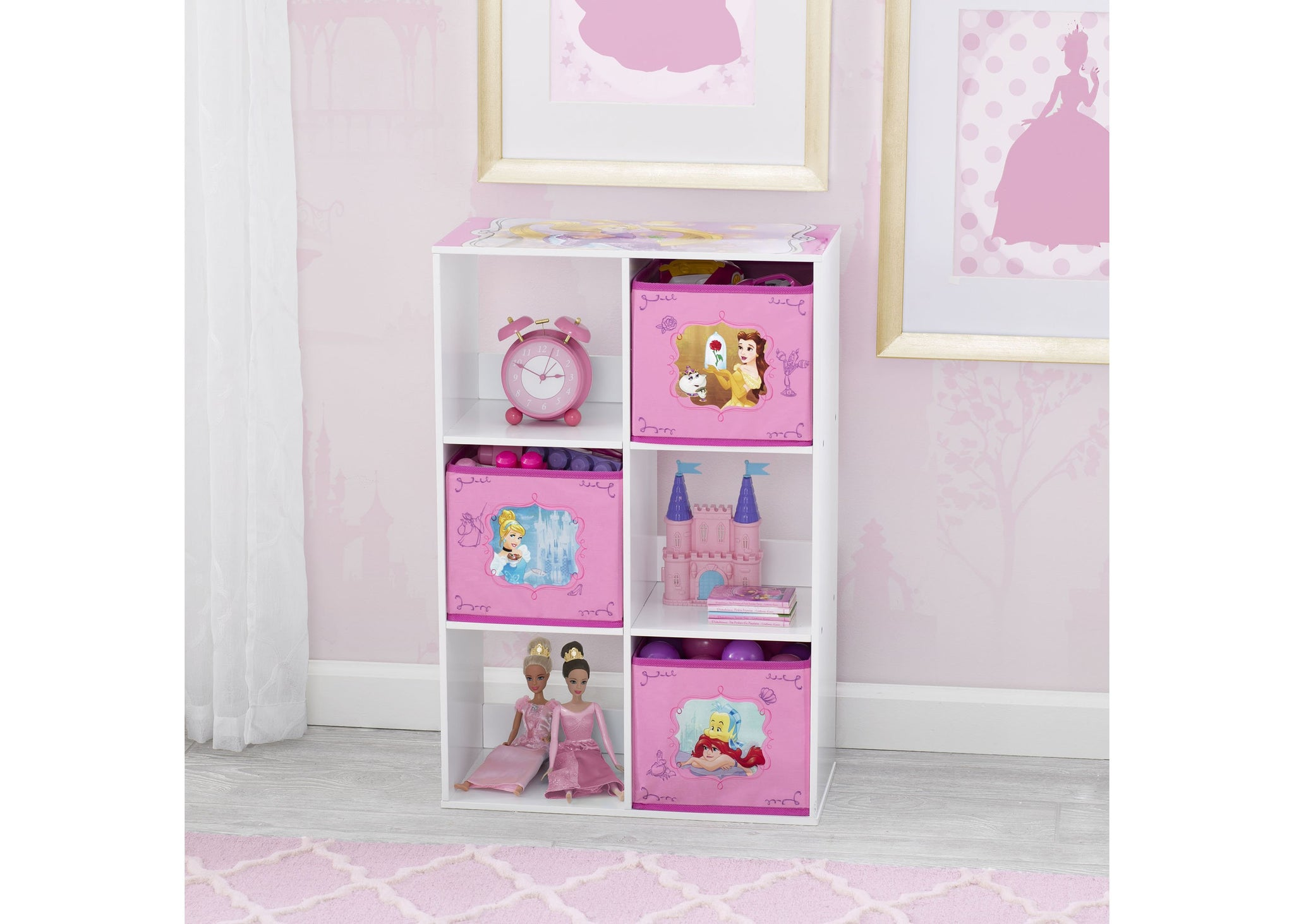 Disney Princess (1034) 6 Cubby Storage Unit (TB83405PS), Hangtag, a1a