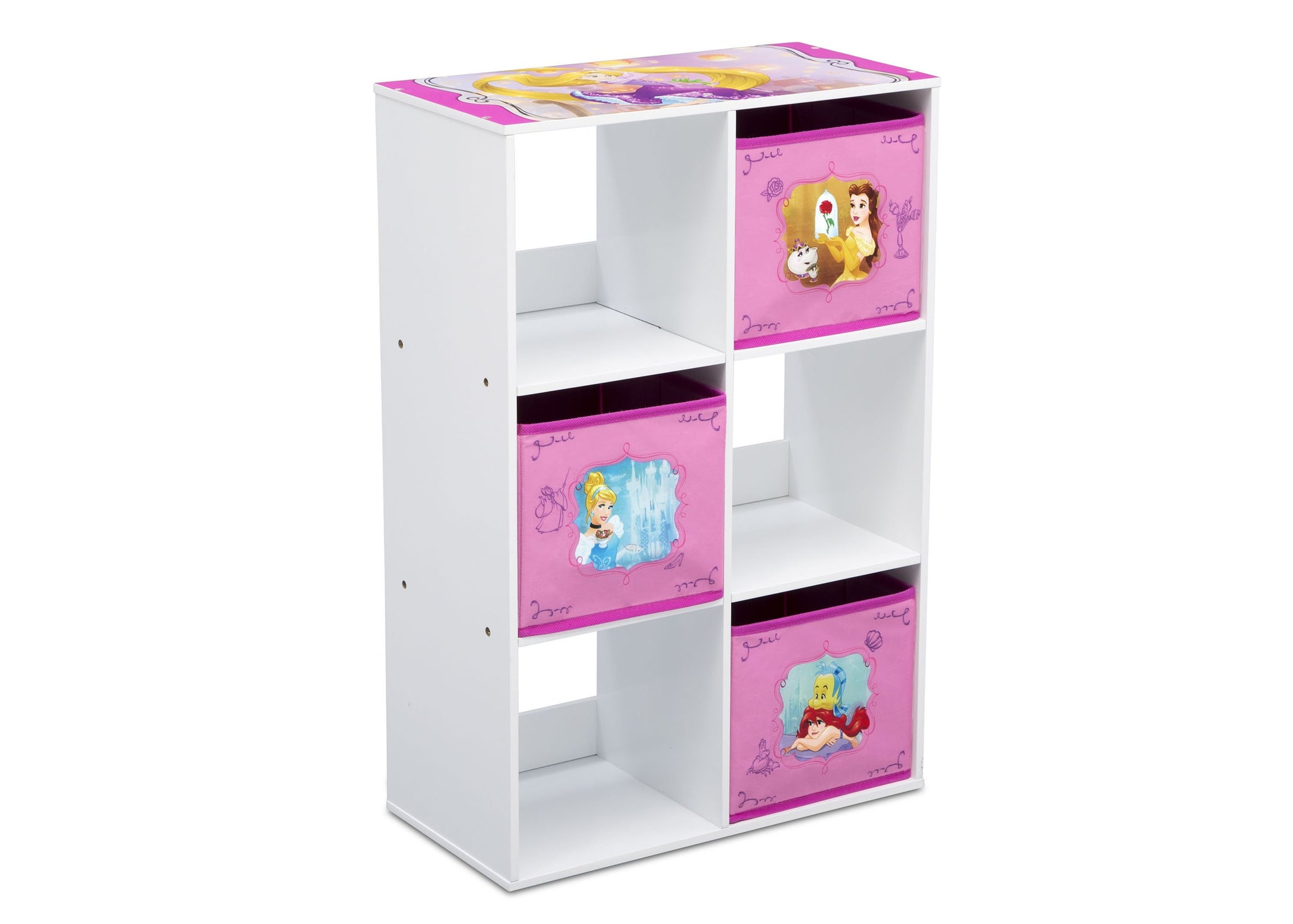 Disney Princess (1034) 6 Cubby Storage Unit (TB83405PS), Sideview, a2a