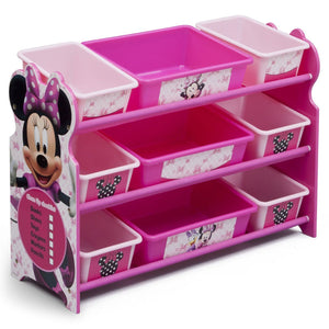 Delta Children Minnie Mouse 9 Plastic Bin Organizer, Right View a1a