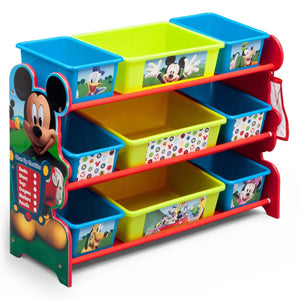 Delta Children Mickey Mouse (1051) Plastic 9 Bin Organizer, Left View a1a
