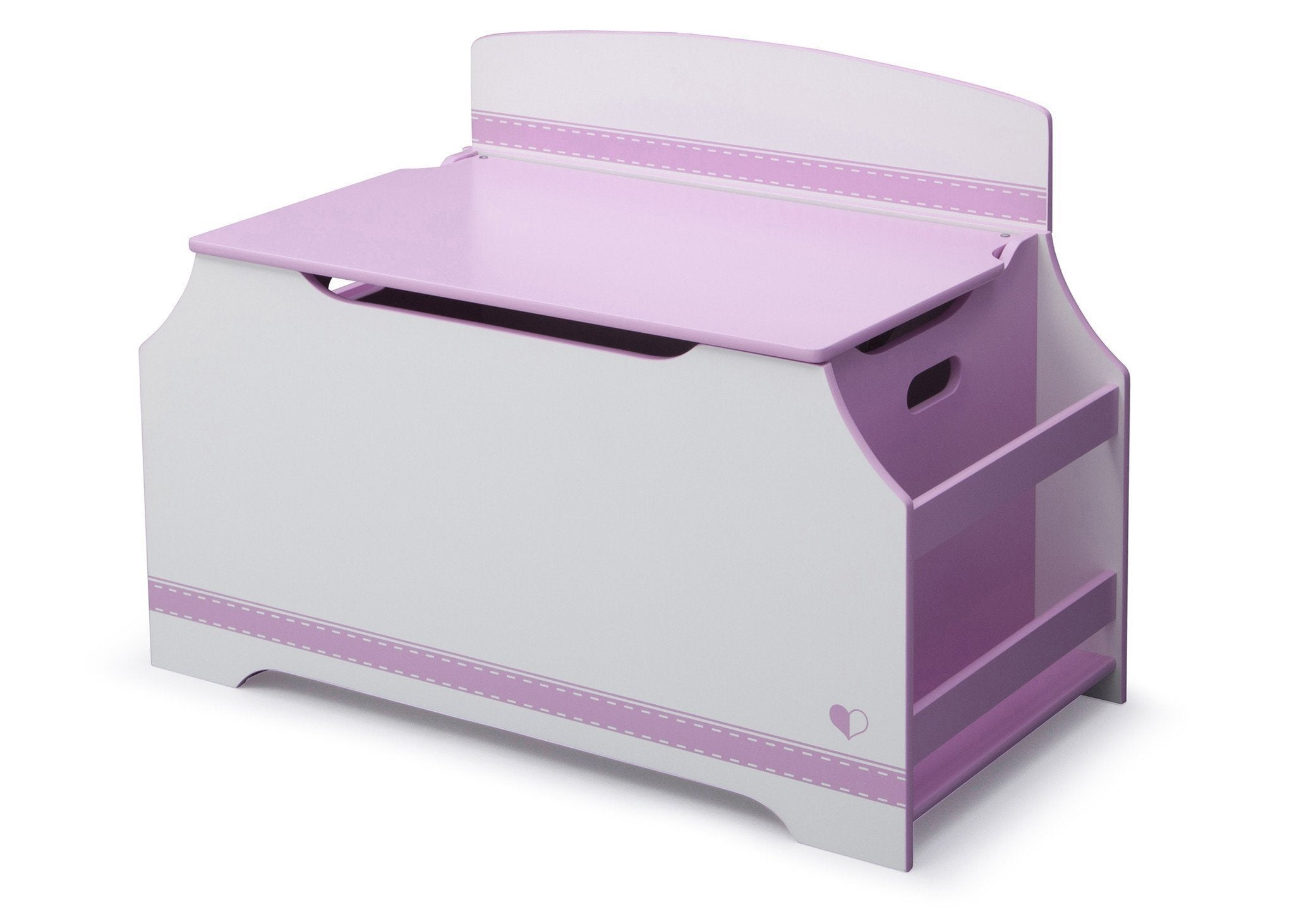 Carnival Toy Box Pink: Jack And Jill Deluxe Toy Box With Book Rack, Pink And