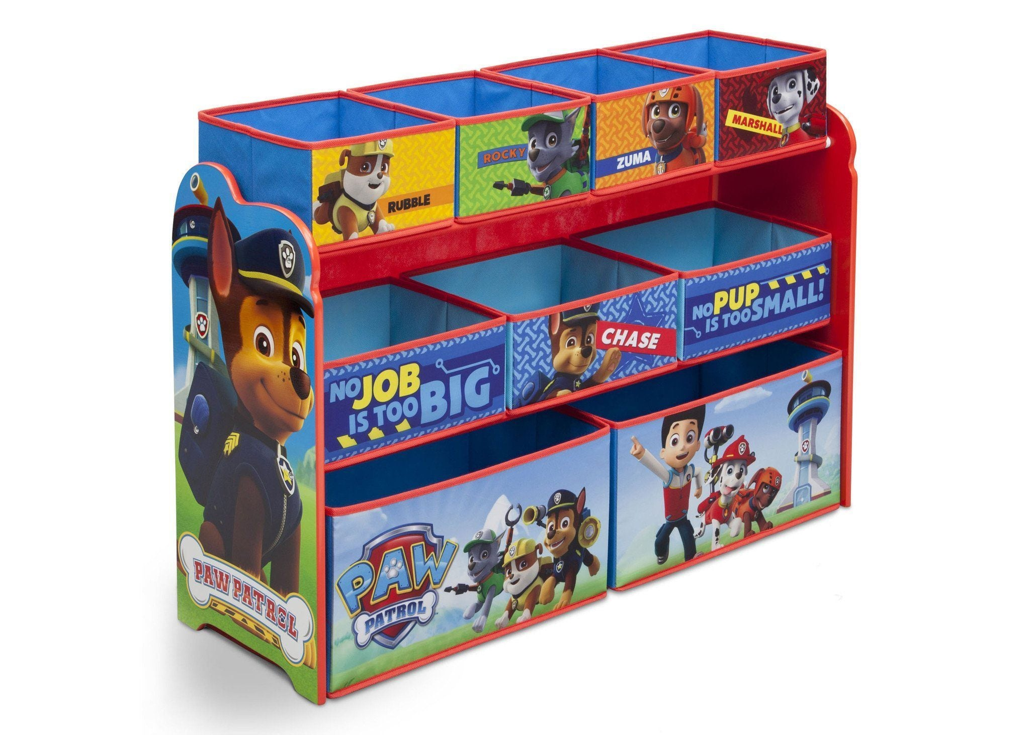 Delta Children PAW Patrol Deluxe Multi Bin Toy Organizer, Right View a2a