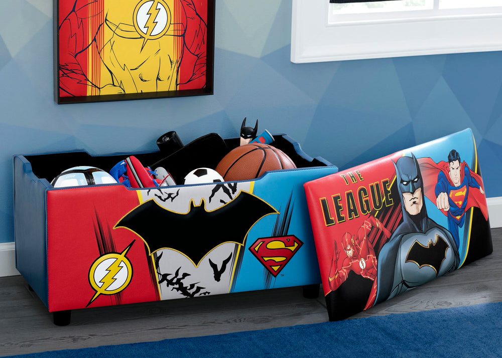 Justice League Upholstered Storage Bench for Kids – Delta ...
