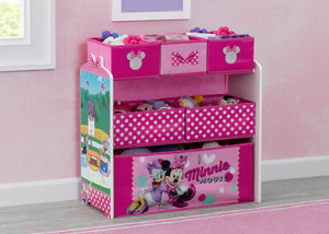 Delta Children Minnie Mouse (1063) Design and Store 6 Bin Toy Organizer, Hangtag View