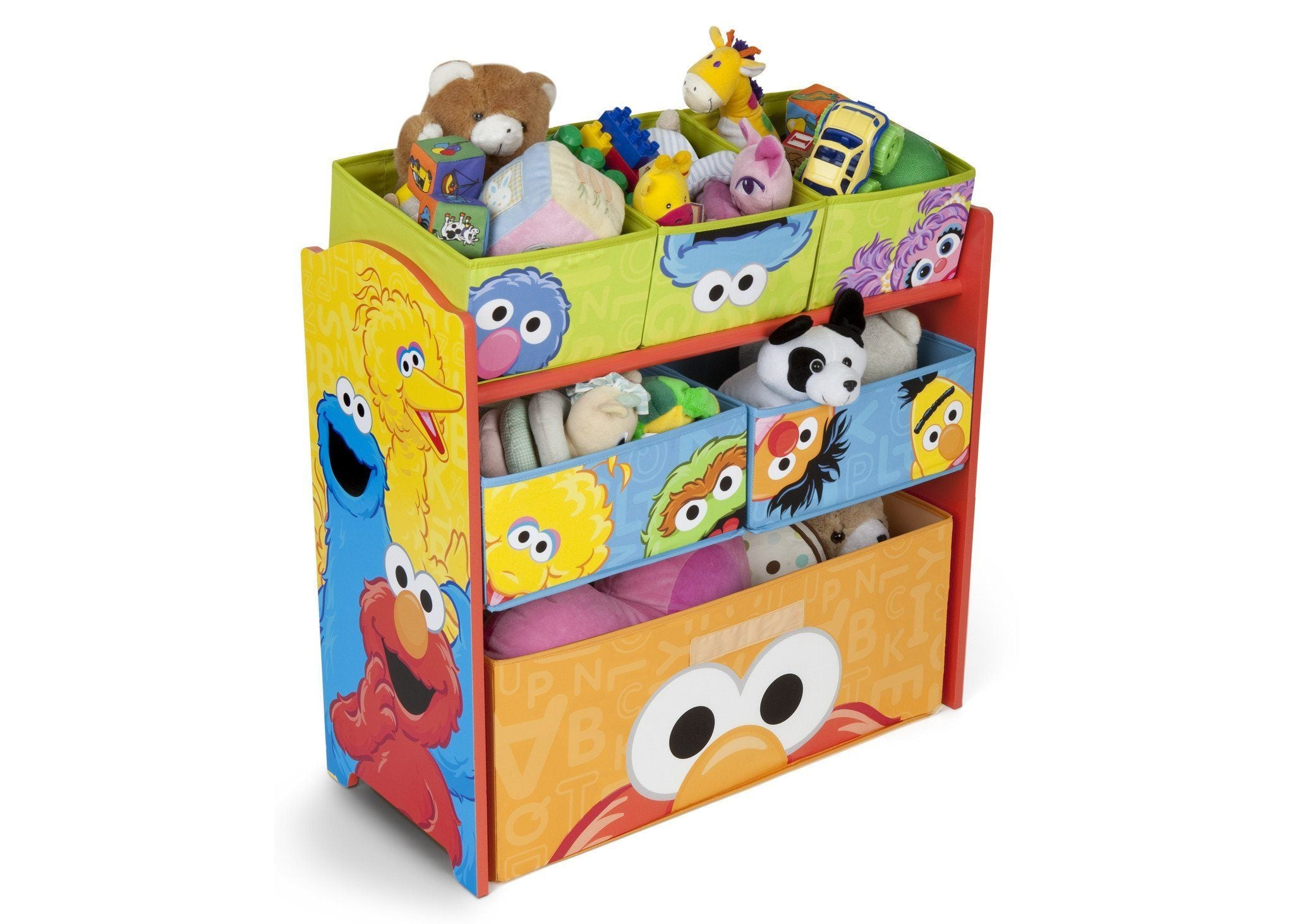 Delta Children Sesame Street Multi Bin Toy Organizer Right Side View With  Props A1a ...