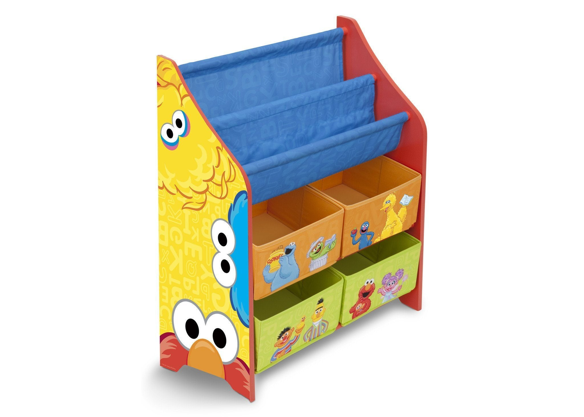 Delta Children Sesame Street Book & Toy Organizer Right Side View a1a