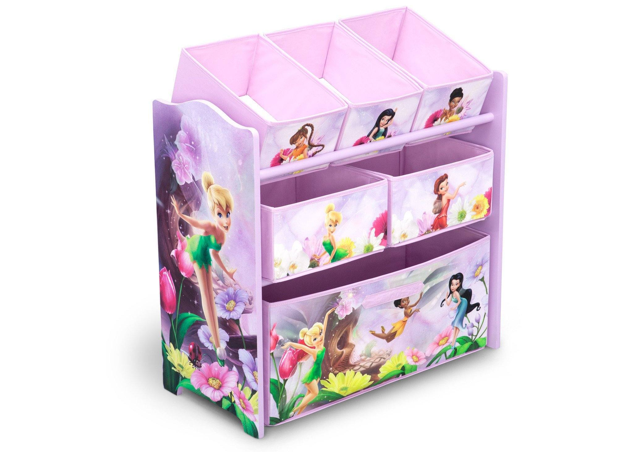Delta Children Style 1 Fairies Multi-Bin Toy Organizer, Right View a1a