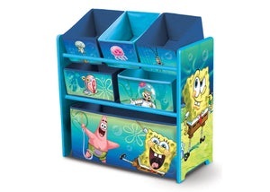 Delta Children SpongeBob Multi-Bin Toy Organizer Left Side View a1a
