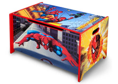 Delta Children Marvel Spider-Man Toy Box Left Side View a2a