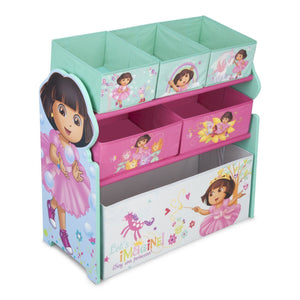 Delta Children Dora Multi-Bin Toy Organizer Right Side View a1a