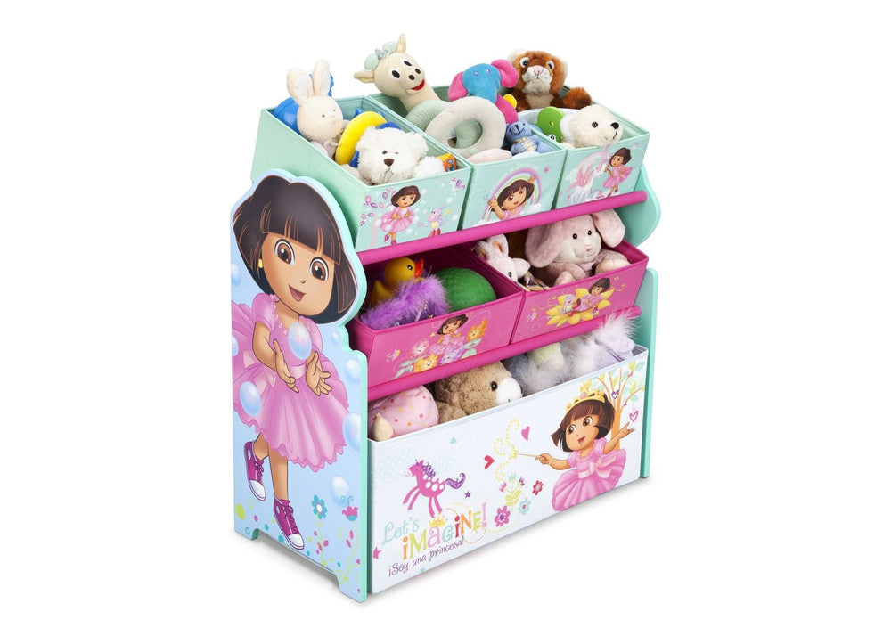 Paw Patrol Toy Organizer Bin Cubby Kids Child Storage Box: Dora Multi-Bin Toy Organizer