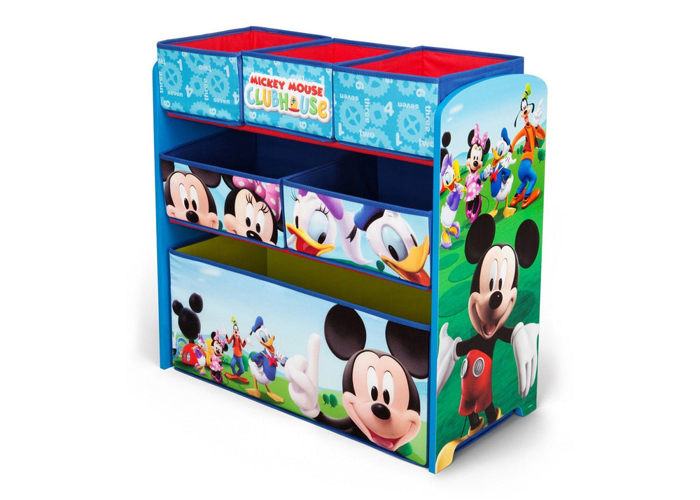 Delta Children Mickey Mouse Multi-Bin Toy Organizer Left Side View
