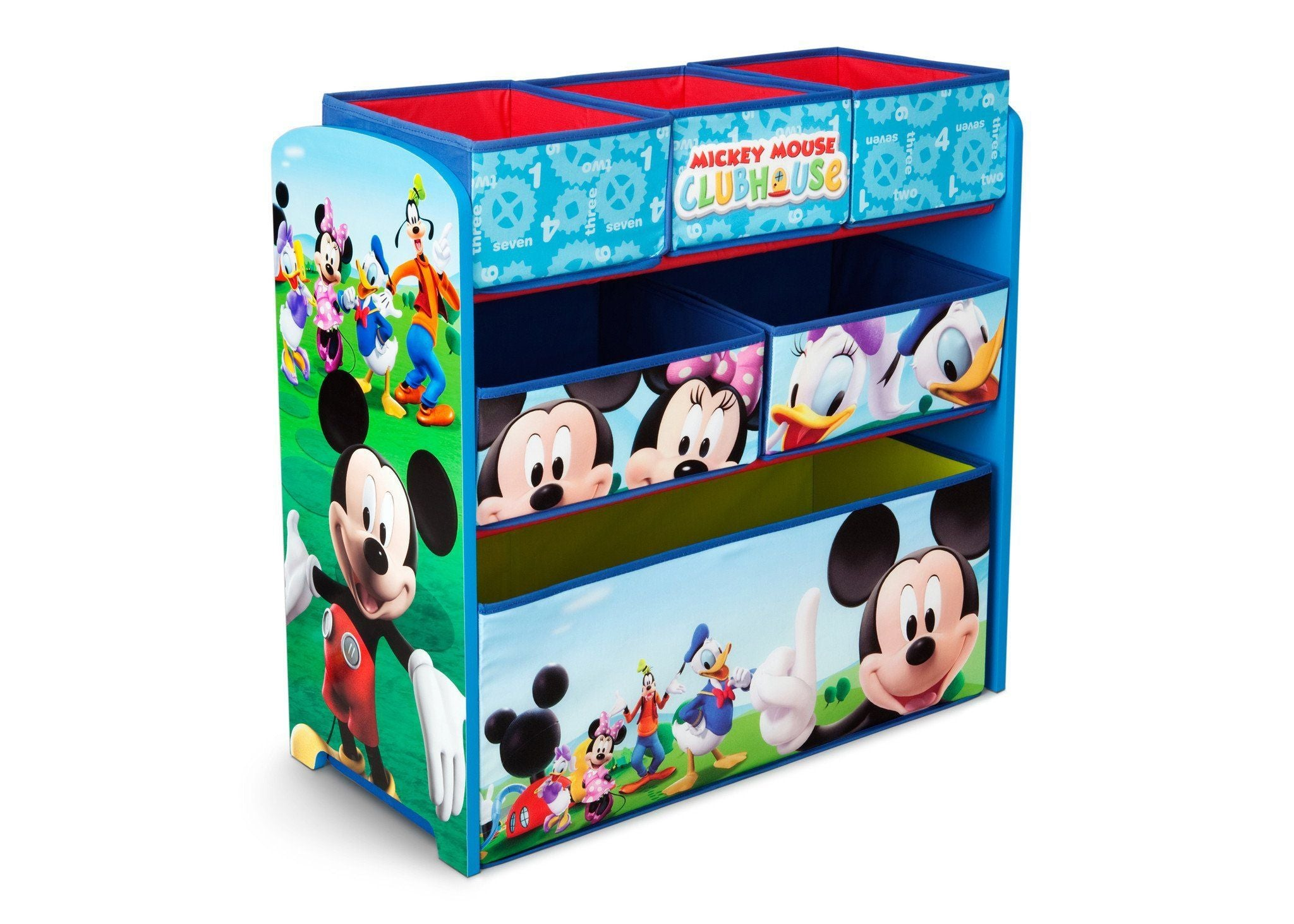 Delta Children Mickey Mouse Multi-Bin Toy Organizer Right Side View a1a Mickey (1051)