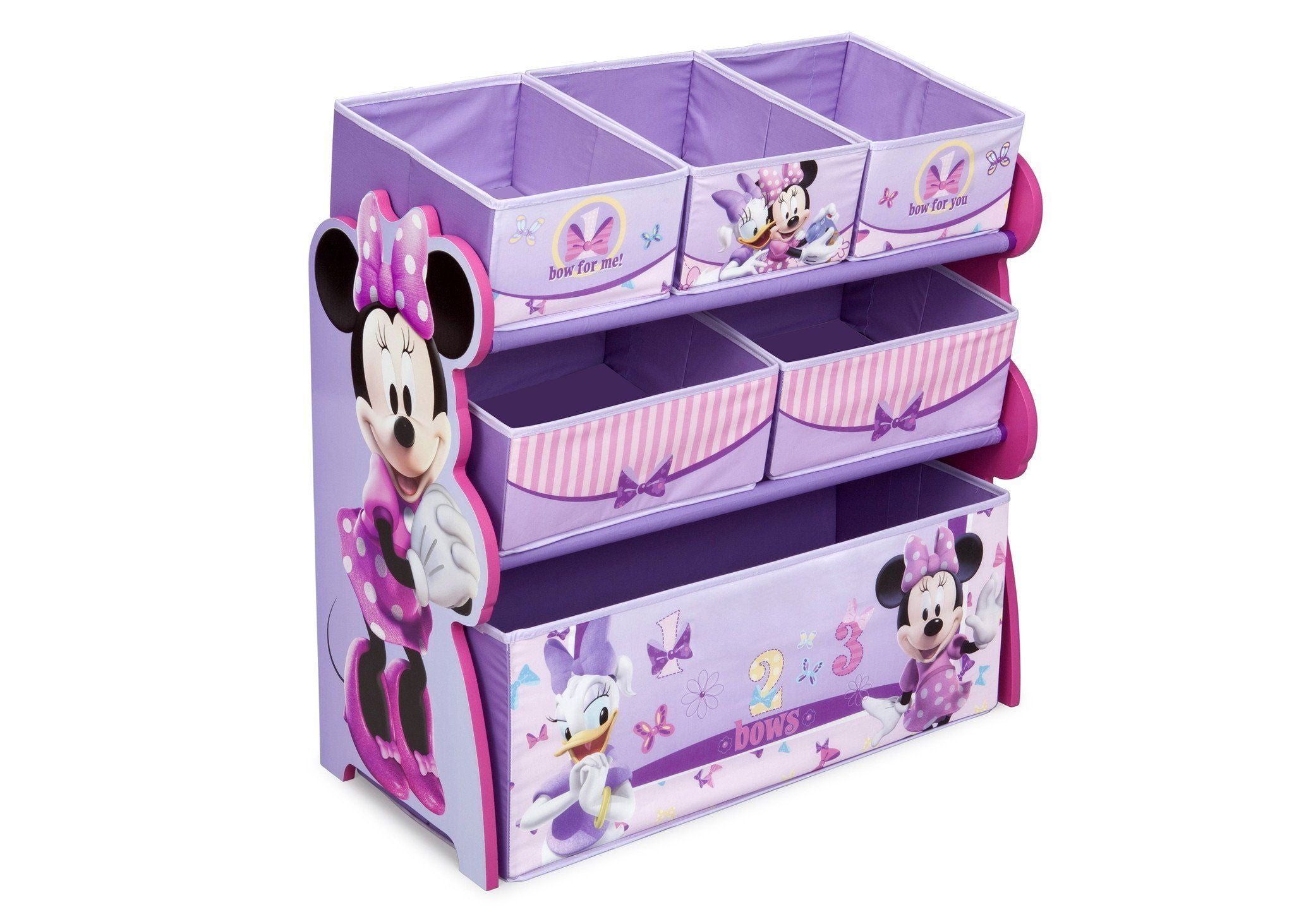 Delta Children Minnie Mouse Multi-Bin Toy Organizer Right Side View