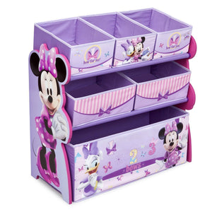 Delta Children Minnie Mouse Multi-Bin Toy Organizer Right Side View Assorted (999)