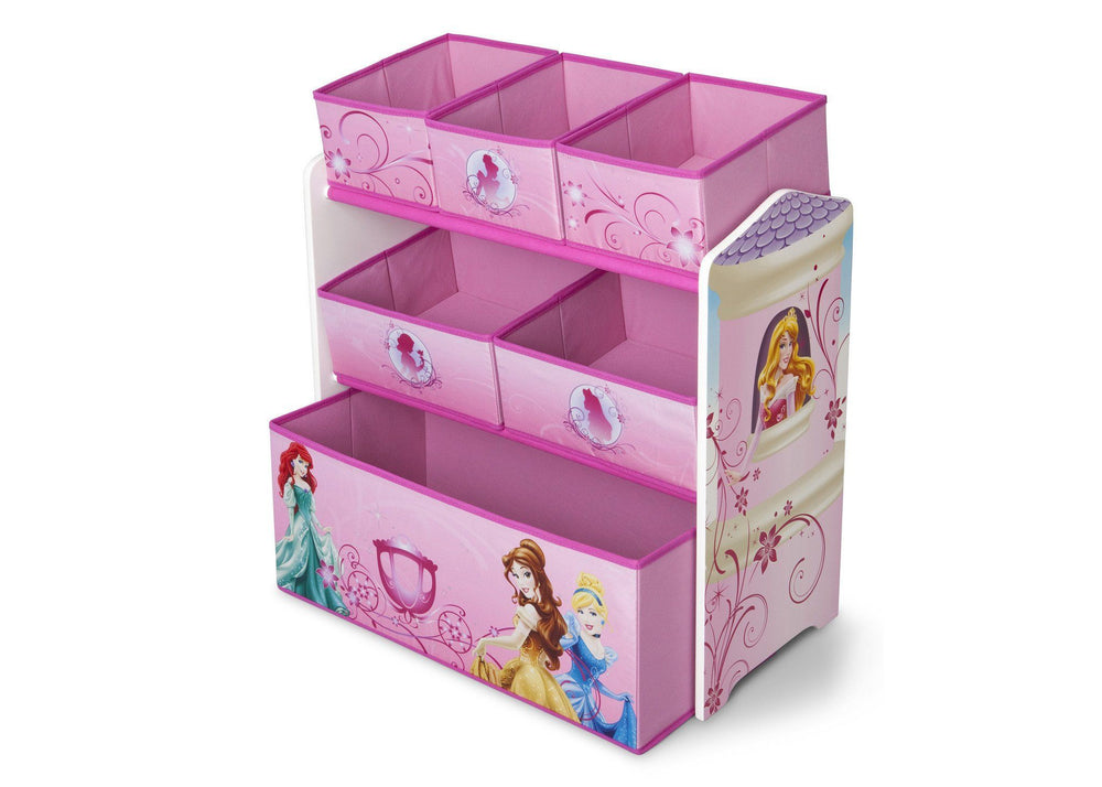 Delta Children Princess Multi-Bin Toy Organizer, Left Side View