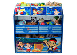 Delta Children Jake and the Neverland Pirates Multi-Bin Toy Organizer Front View
