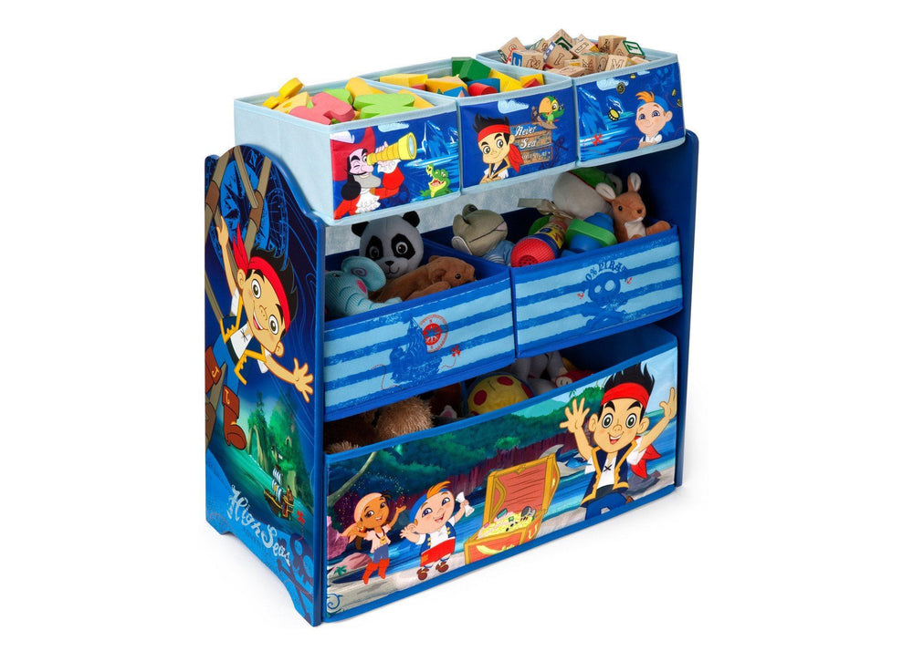 Delta Children Jake and the Neverland Pirates Multi-Bin Toy Organizer Right Side View a2a