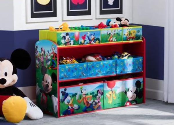 Mickey Mouse Deluxe Multi Bin Toy Organizer Delta Children