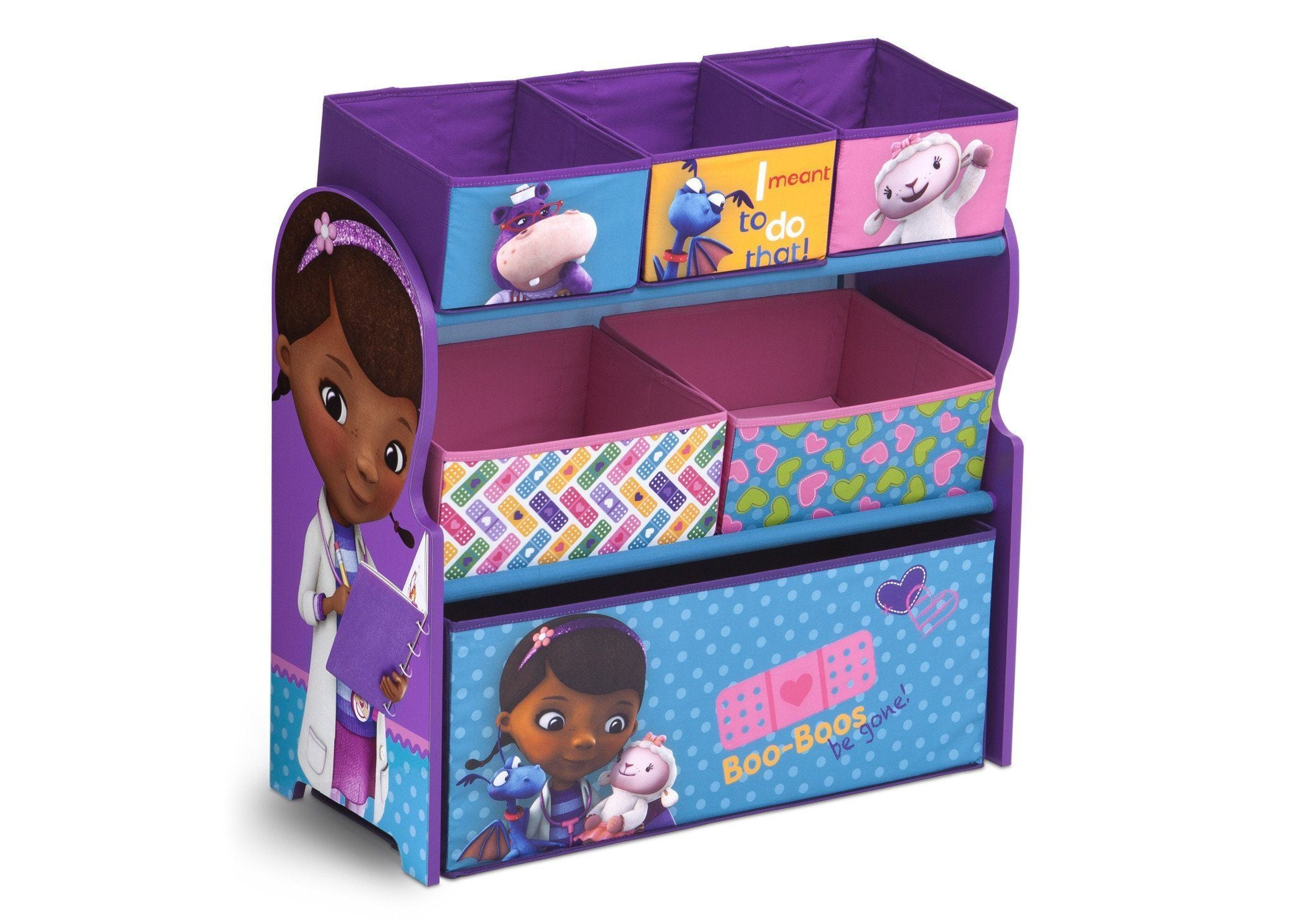 Delta Children Doc McStuffins Multi-Bin Toy Organizer Right Side View Doc Mcstuffins (1081)
