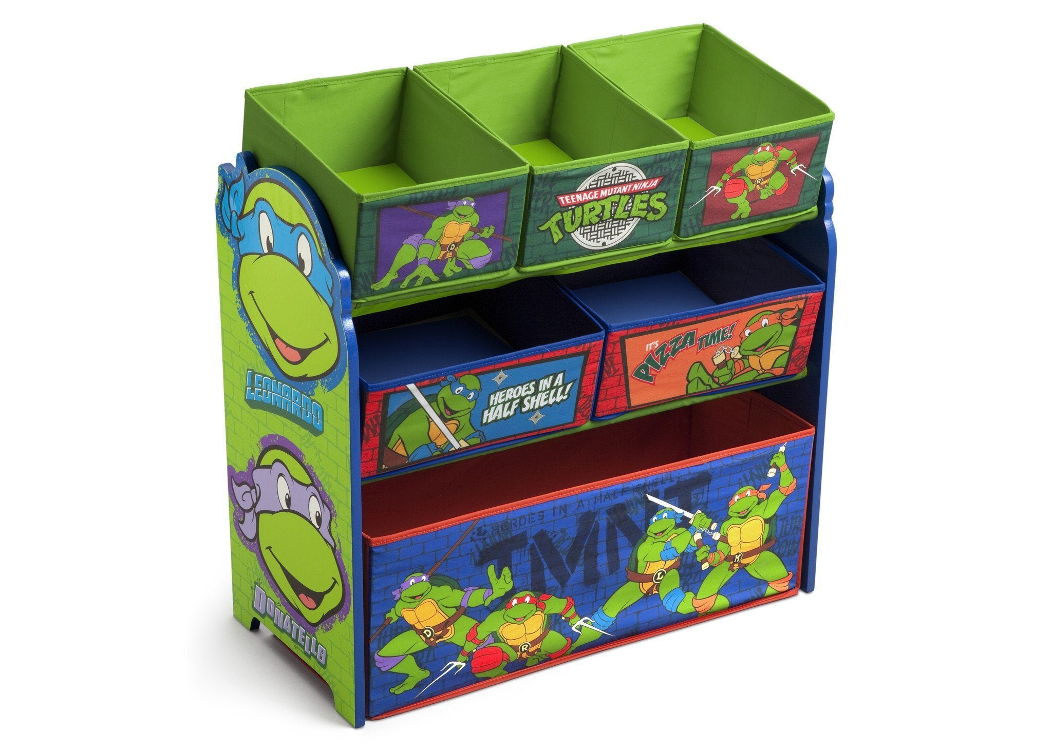 Delta Children Ninja Turtles Multi-Bin Toy Organizer Right Side View a2a Ninja Turtles (1117)