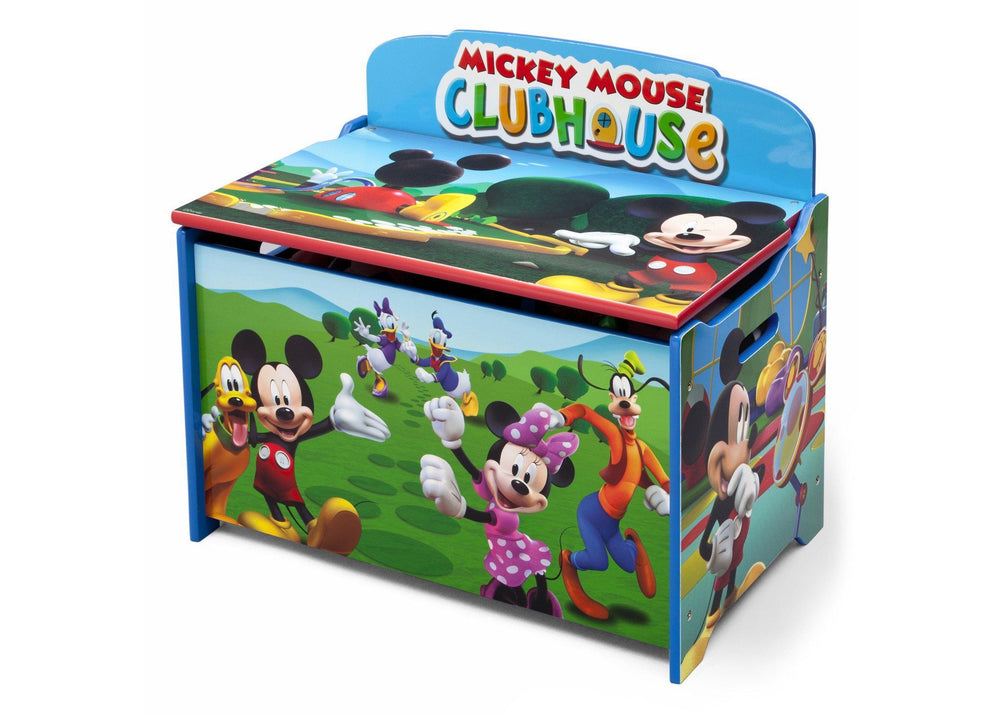 Delta Children Mickey Deluxe Toy Box Left Side View a2a
