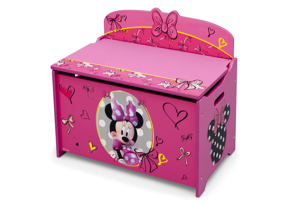 Delta Children Minnie Deluxe Toy Box Left Side View a3a