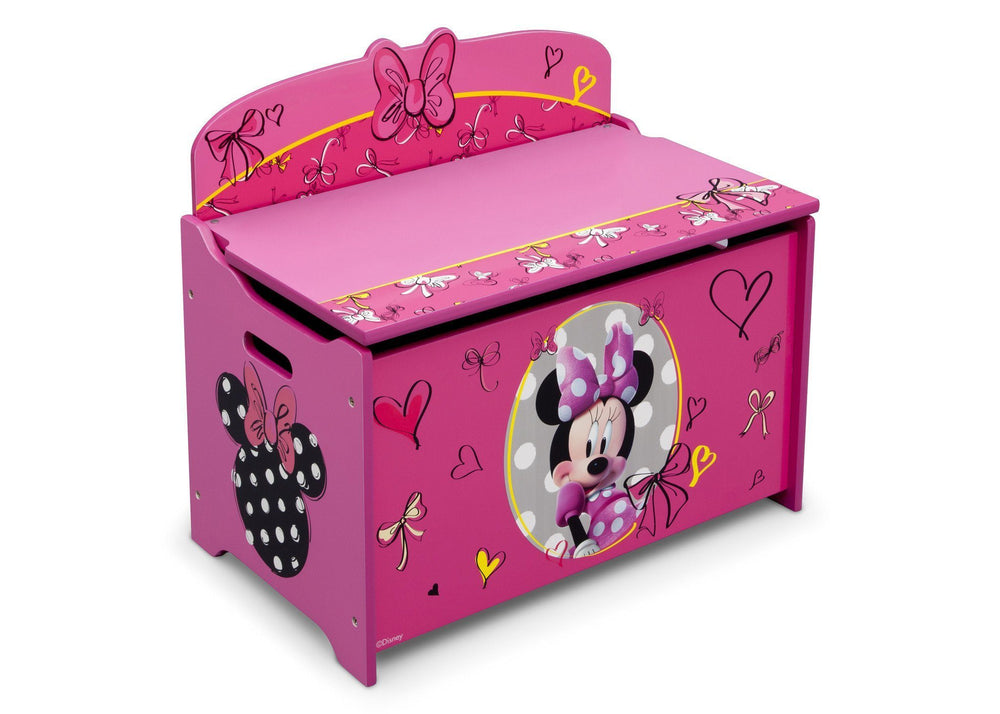 Delta Children Minnie Deluxe Toy Box Right Side View a2a