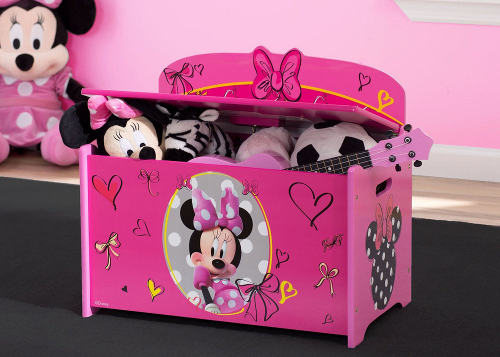 Stupendous Disney Minnie Mouse Deluxe Toy Box Delta Children Pdpeps Interior Chair Design Pdpepsorg