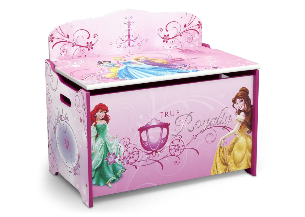 Delta Children Princess Deluxe Toy Box Right Side View a2a