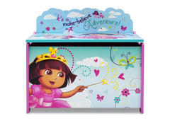 Delta Children Dora Deluxe Toy Box Front View a4a