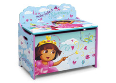 Delta Children Dora Deluxe Toy Box Right Side View a2a