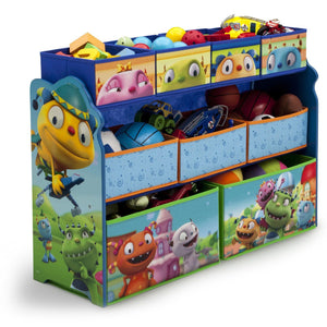 Delta Children Henry Hugglemonster Deluxe Multi-Bin Toy Organizer Right Side View a1a