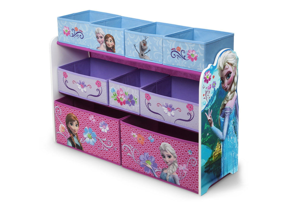 Delta Children Frozen Deluxe Multi-Bin Toy Organizer Left Side View