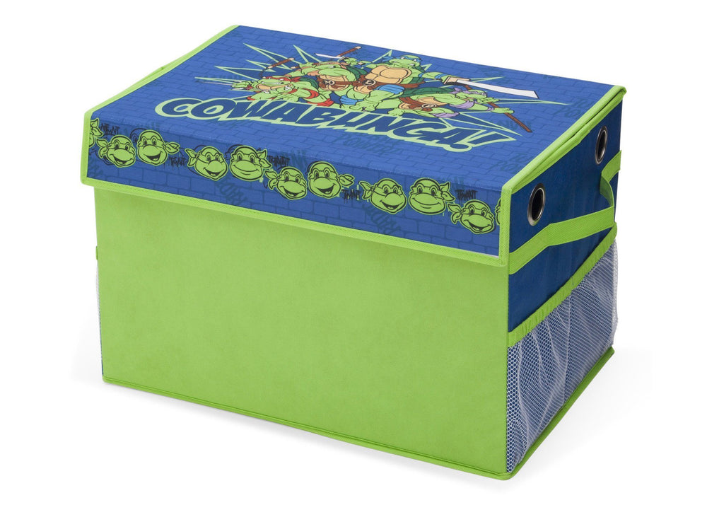 Delta Children Teenage Mutant Ninja Turtles Fabric Toy Box, Left View a2a