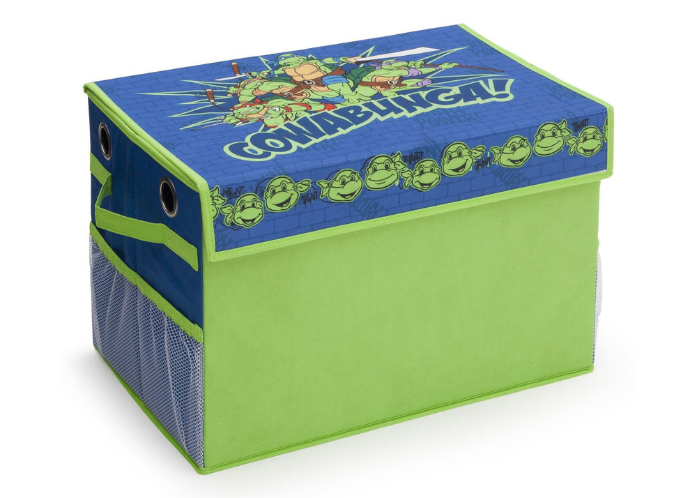 Delta Children Teenage Mutant Ninja Turtles Fabric Toy Box, Left View, Close a1a