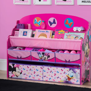 Minnie Mouse Deluxe Book & Toy Organizer