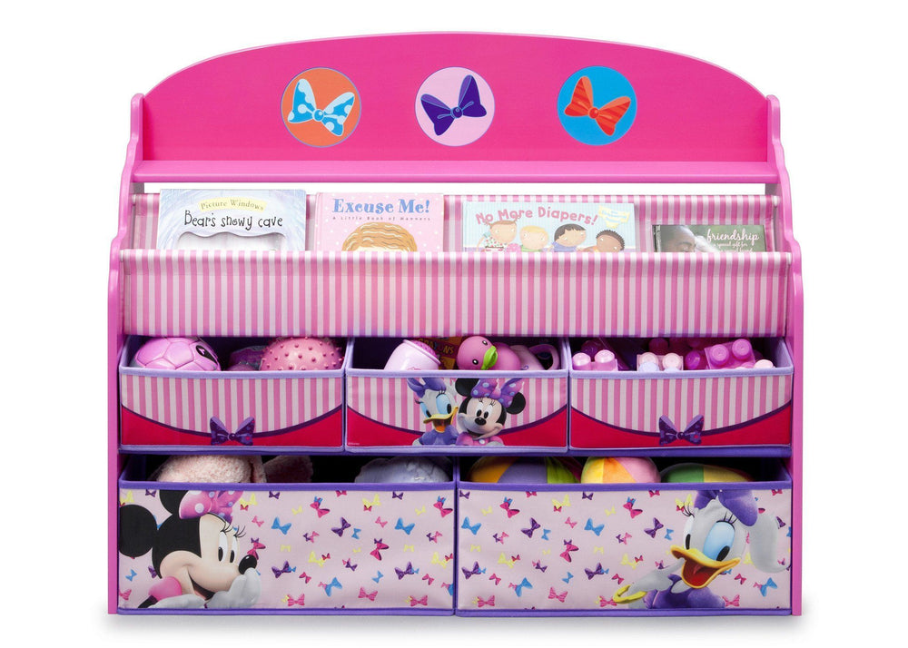 Delta Children Minnie Deluxe Book & Toy Organizer Front View