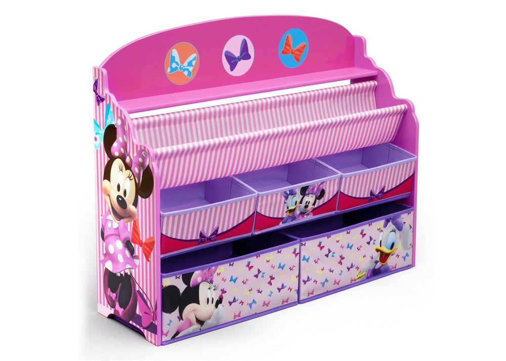 Delta Children Minnie Deluxe Book & Toy Organizer Right Side View a1a