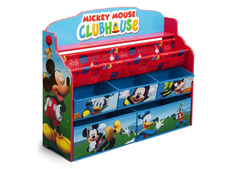 Delta Children Mickey Deluxe Book & Toy Organizer Right Side View a1a