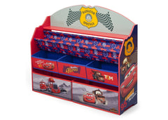 Delta Children Cars Deluxe Book & Toy Organizer Left Side View a2a