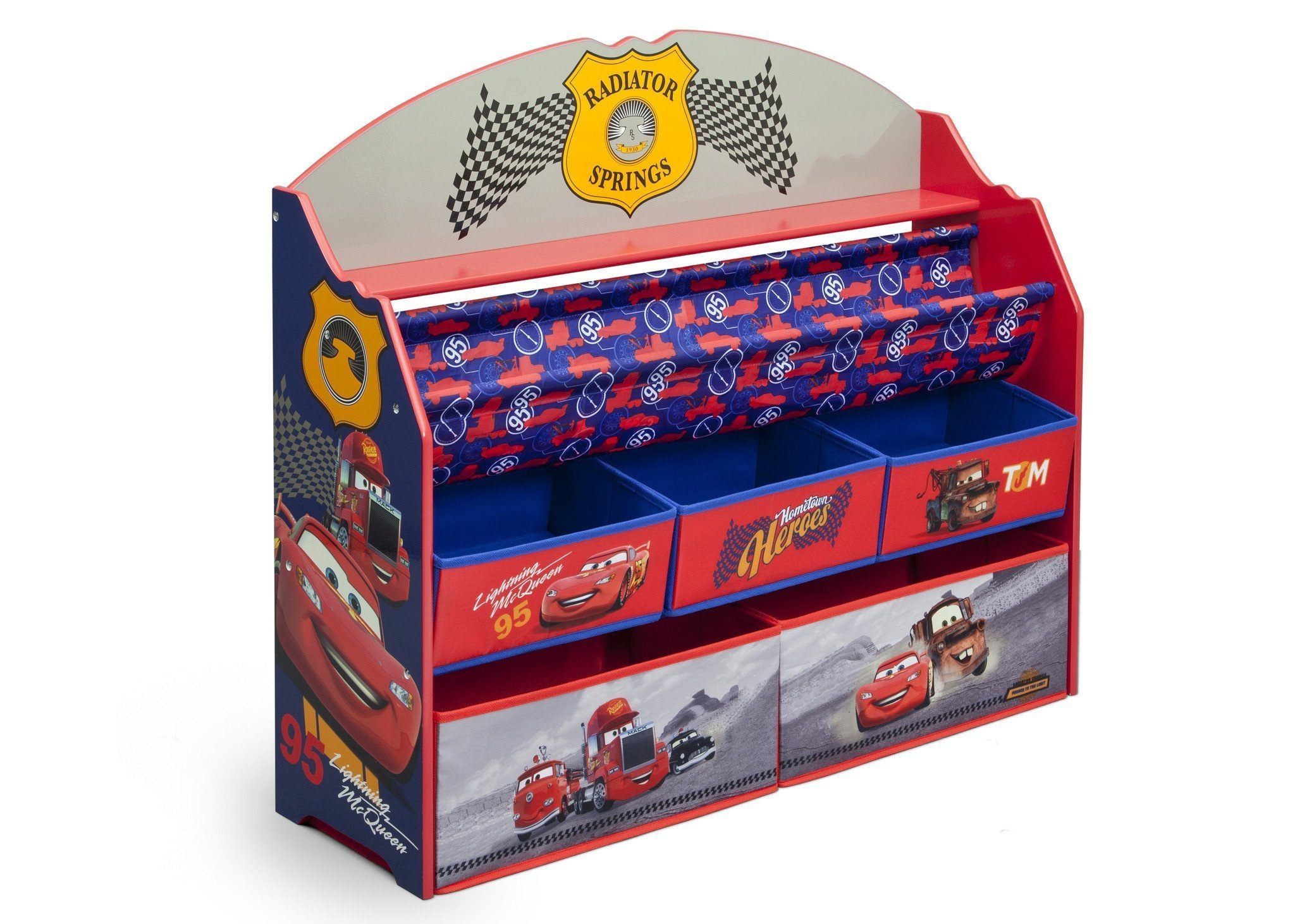 Delta Children Cars Deluxe Book & Toy Organizer Right Side View a1a Cars Heroes (1010)