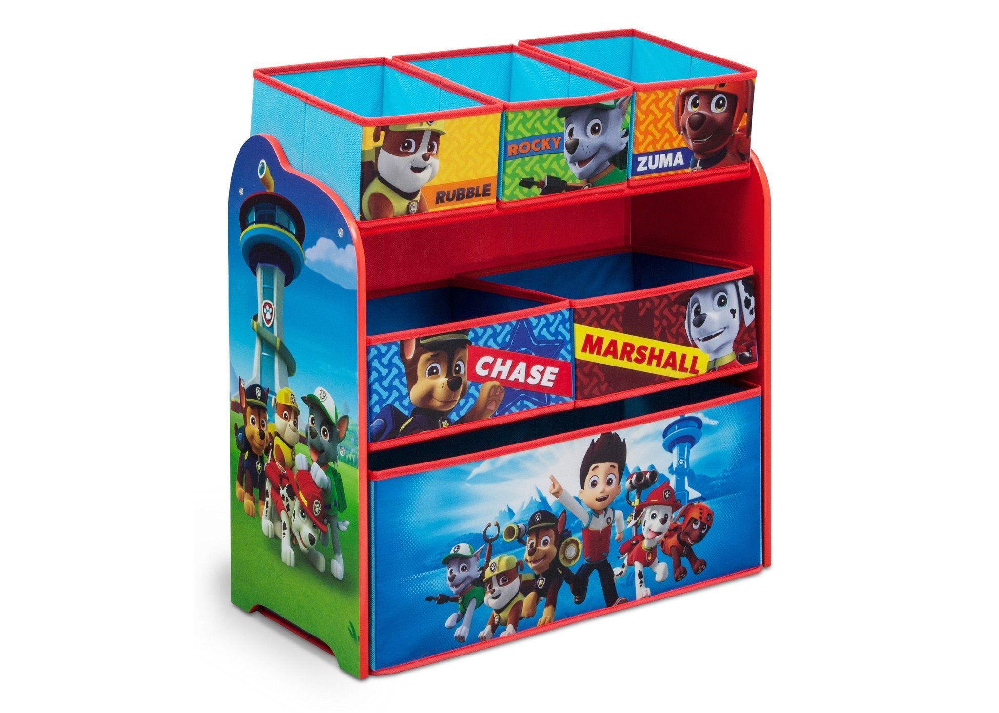 Paw Patrol Toy Organizer Bin Cubby Kids Child Storage Box: PAW Patrol Multi-Bin Toy Organizer