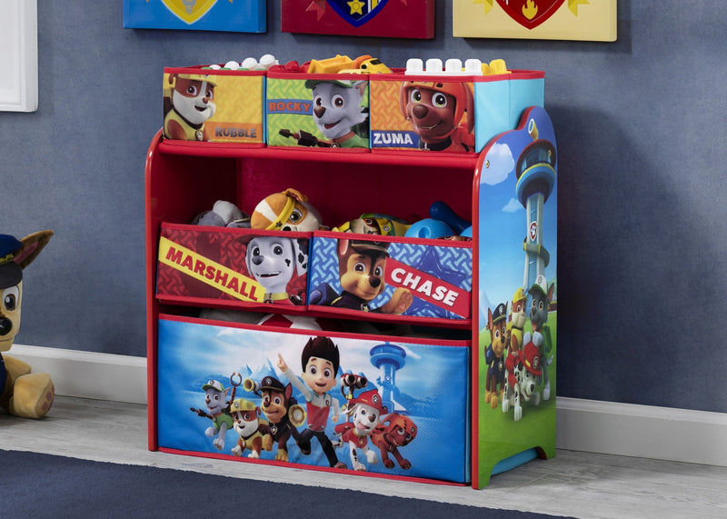 Paw Patrol Toy Organizer Bin Cubby Kids Child Storage Box: Easel Desk With Stool & Toy